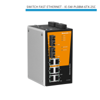 SWITCH INDUSTRIAL FAST ETHERNET IE-SW-PL08M-6TX-2SC