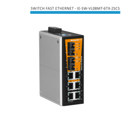 SWITCH INDUSTRIAL FAST ETHERNET IE-SW-VL08MT-6TX-2SCS