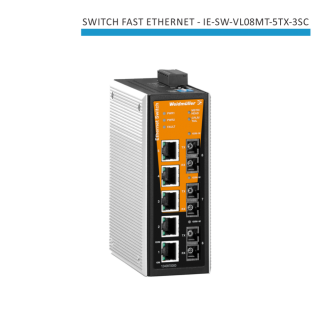 SWITCH INDUSTRIAL FAST ETHERNET IE-SW-VL08MT-5TX-3SC